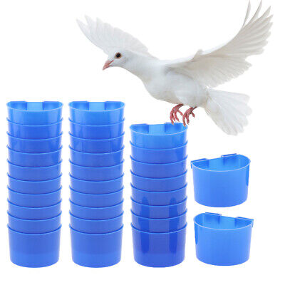 30pcs Parrot Pigeon Poultry Bird Bowls Food Feeding Water Cups Sand Cup S