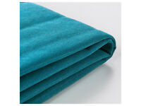 2 x IKEA BEDDINGE SOFA BED COVERS TURQUOISE HARDLY USED. ONE JUST LAUNDERED. OTHER USED FOR A WEEK.