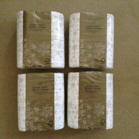 Brand new and sealed set of 4 packs Marks & Spencer luxury Xmas ultra-soft fragranced toilet tissue