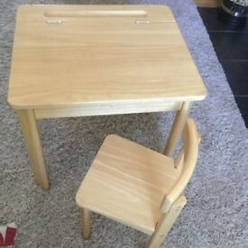 Child's Desk & Chair Set