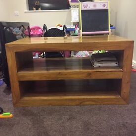Solid mahogany coffee table or TV unit