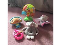 Young baby toy bundle inc. Vtech Little Friendlies light up musical spinning wheel