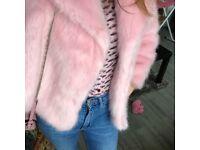 Topshop camila fur coat