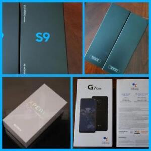 Brand New Samsung Galaxy S9/S9+ Plus/Google Pixel3/Sony Xperia XZ2/LG-G7 One Unlocked, Canadian* Freedom/Bell/Rogers/Tel