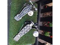 Two bass drum pedals