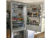 Nearly new Bosch Low Frost Fridge Freezer - A+++ rated, white, 70cm wide, huge capacity