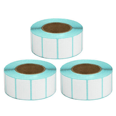 3 Roll Blank White Shipping Label Thermal Adhensive Sticker Adress Label