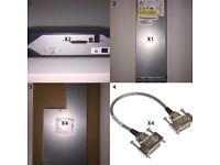 CISCO JOBLOT- 2x 2821-ISR, 4x PWR-2911-AC-PSU, 4x StackWise Cables + 1x 3750-PSU