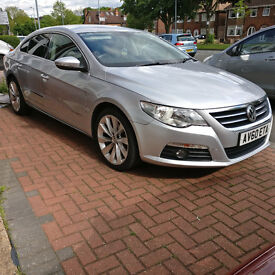 VW CC 2010, FSH, SILVER, 2 KEYS, 2 OWNERS FROM NEW, FULL LEATHER 5 SEATS