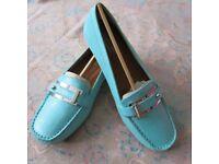 Naturalizer Gisella-Turquoise Iguana Ladies Shoes, Size 4/37