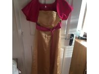 Set of 3 Pink and Gold Bridesmaid Dresses (also willing to sell individually).