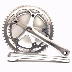 Classic Shimano 600 Ultegra crankset cranks 172.5mm 53T 39T quality lightweight chainrings chainset