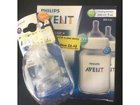 Avent bottle and spare teats