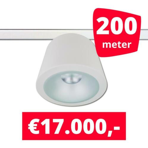 *tip* led railverlichting can wit 200 spots 3000k + 200m