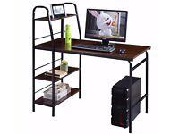 Multifunction Computer Desk 4 Tier Shelf Workstation