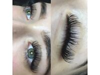Mink Russian and classic eyelash extensions and brows.
