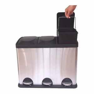 HQV 3-Compartment Waste/ Recycling Smart Bin – Brand New