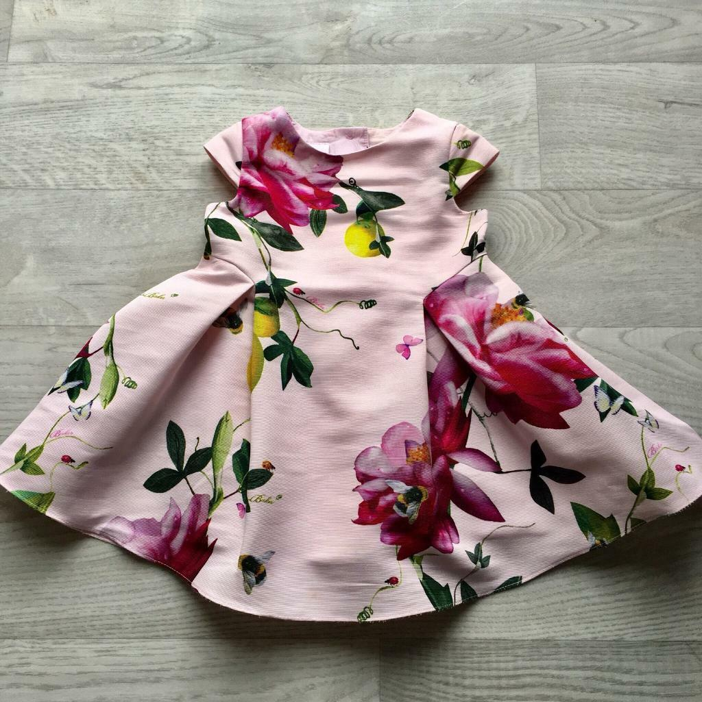 3da40d6009eb3 Ted baker dress floral pink baby girl