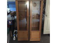 2 x Display Cabinets
