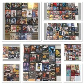Massive DVD bundle, 199 dvds, horror/family/comedy/action/action/thriller