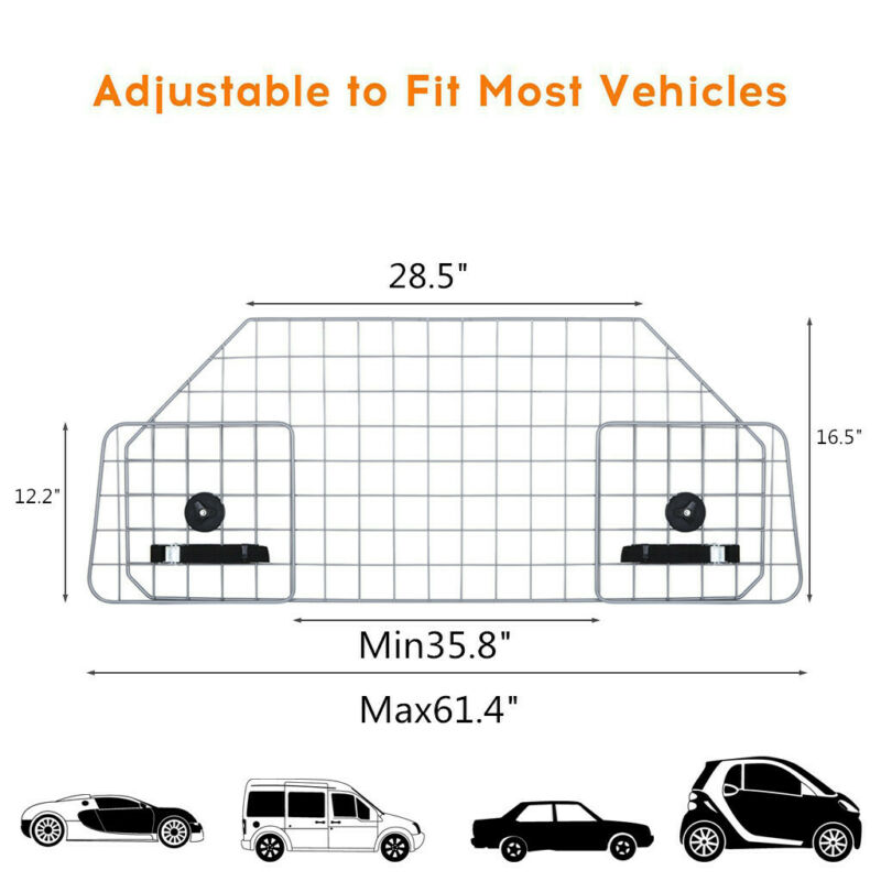 Dog Pet Barrier For Suv Car Vehicle Universal Cage Prevent D