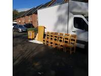 solid pine wood dinning room table and 6 chairs ( was £2000 in creations)