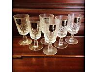 Lovely Vintage Edinburgh Crystal Sherry/ Shot Glasses, set of 6 brand new in box
