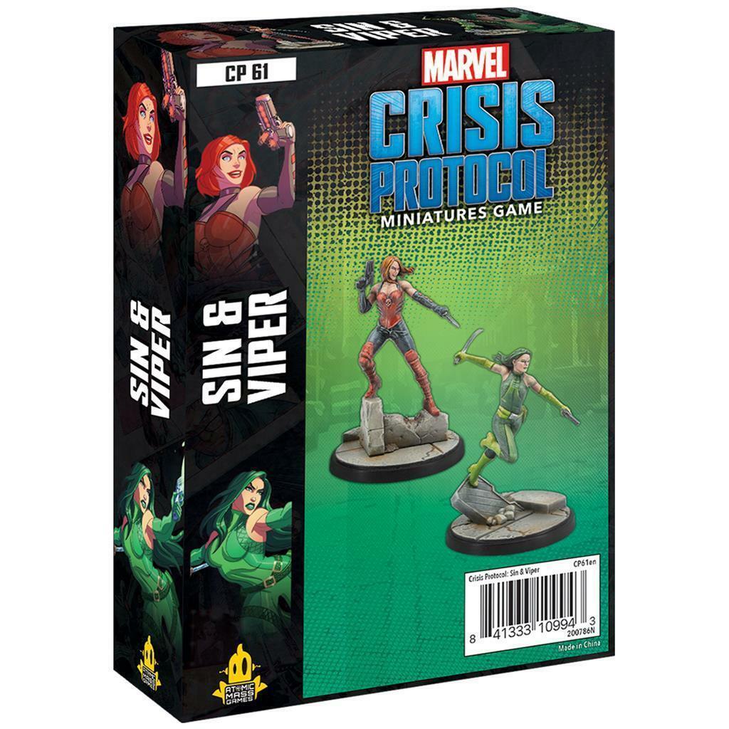 как выглядит Marvel Crisis Protocol Sin Viper фото