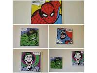 DC Comics canvas prints x4