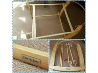 Clare de lune deluxe rocking moses basket stand