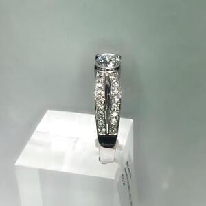 Well Discounted Unique 18K White Gold Certified Canadian Mined Diamond Ring