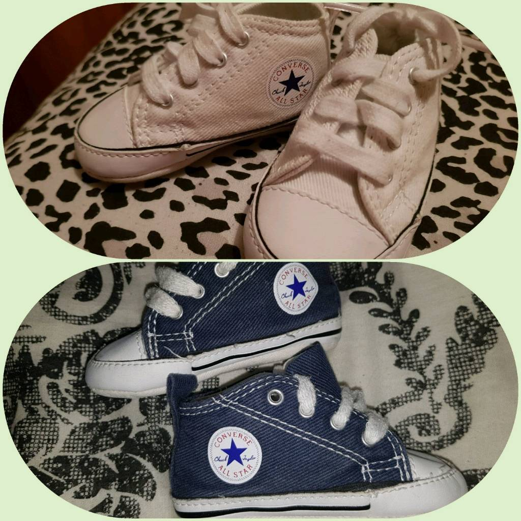 755bec90b0d X2 pairs of baby Converse size 1   2