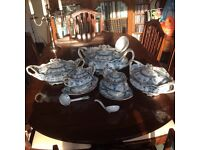 Antique Blue & White serving dish set