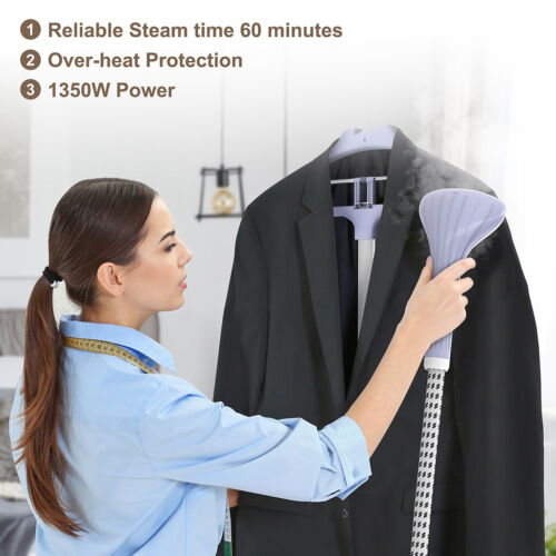 Heavy Duty Powerful Stand Clothes Garment Fabric Steamer 11