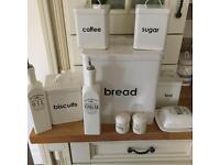 Kitchen accessories bread bin coffee tea salt