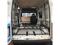 Transit van/ part built camper project with many parts to nearly complete the job