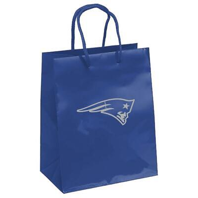 New England Patriots Elegant Foil Gift Bag [NEW] Wrapping Present Paper - Patriots Birthday