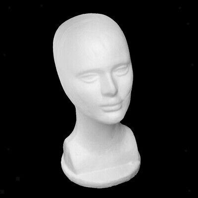 Styrofoam Male Wig Heads Mannequin Manikin Wig Hair Hat Shop Display Stand Model