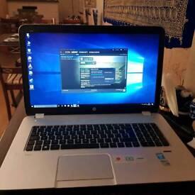 Laptop hp 17 screen 12gb ram 1t memory