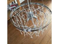 Stunning glass ceiling light takes 3 bulbs for a fantastic glimmer on all the glass