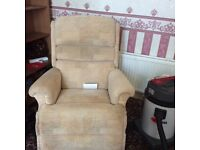 Recliner chair with remote