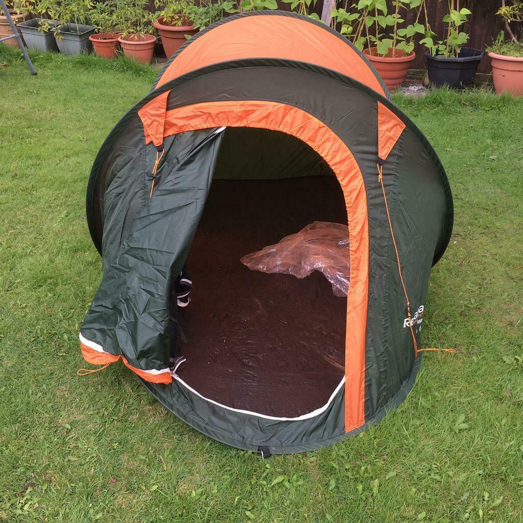 new concept d42b2 ca025 Regatta Orange & Green 2 Man Pop Up Tent | in Bilborough, Nottinghamshire |  Gumtree