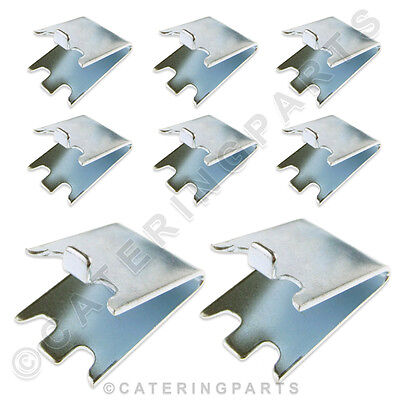 8 x SHELF SUPPORT BRACKETS CLIPS FOR FRIDGE FREEZER WINE BOTTLE COOLER SHELVES