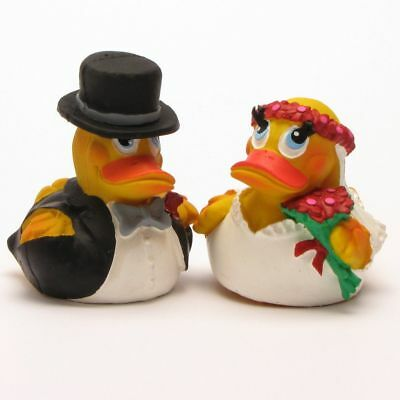 Bride and groom rubber duck - bath duck - Bride And Groom Rubber Ducks