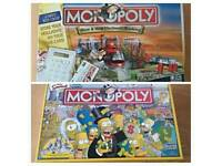 Simpsons Monopoly and Electronic Banking Monopoly