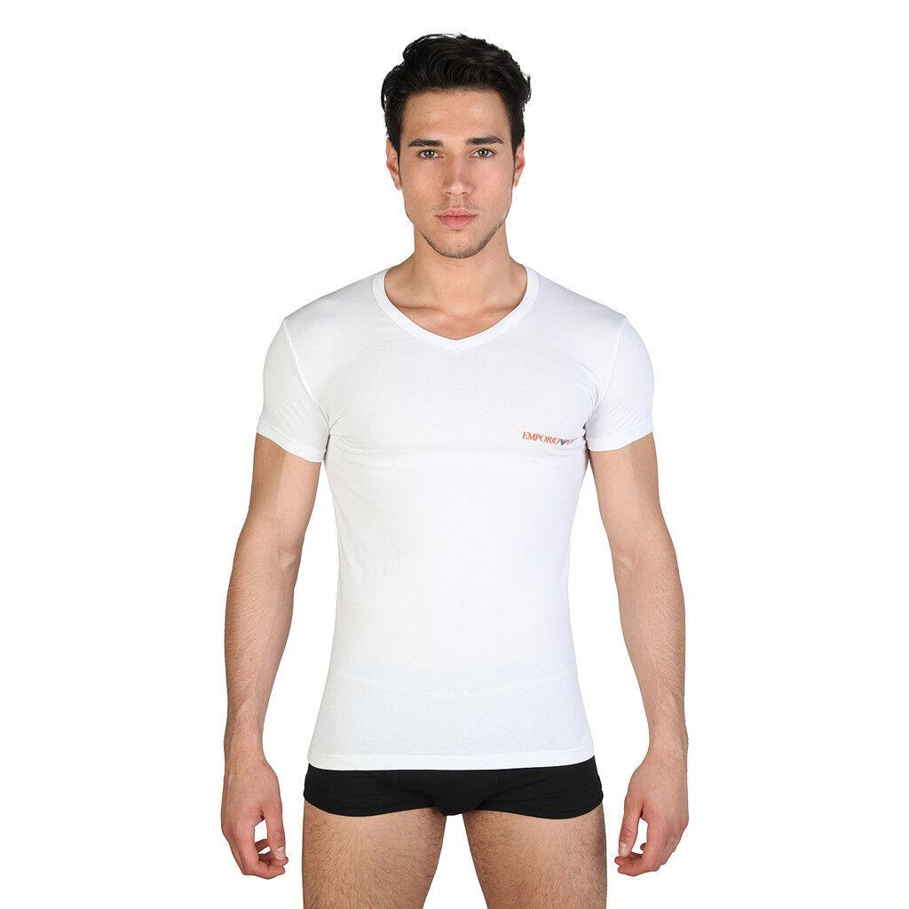 T-SHIRT ARMANI 110810 6P525 BLANC 00010  Uomo maglia maglietta ORIGINALE BIANCO