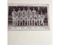 Vintage postcard photograph of Yorkshire County Cricket team.