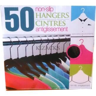 50 Black Velvet Space Saving Clothes Coat Hangers Ultra Thin Non Scullin Belconnen Area Preview