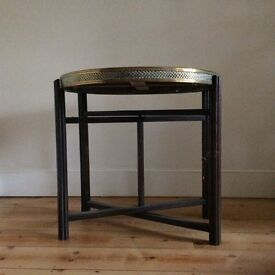 Brass topped table