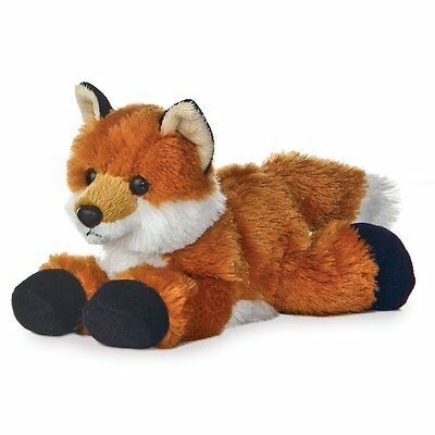 Aurora Mini Flopsies 8-inch Cute & Cuddly Foxie Fox Plush Toy, 31290 New